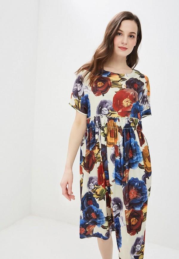 Фото - женское платье MadaM T бежевого цвета