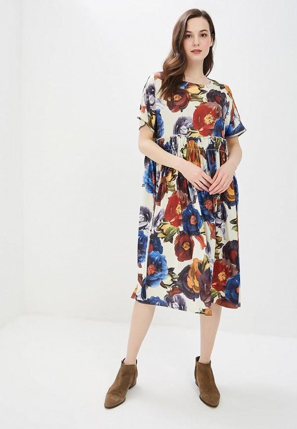 Фото 2 - женское платье MadaM T бежевого цвета