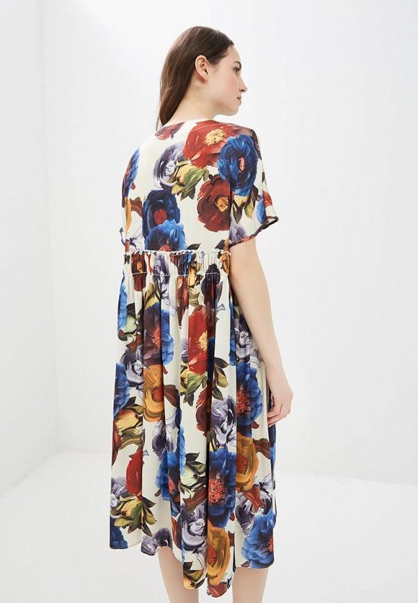 Фото 3 - женское платье MadaM T бежевого цвета