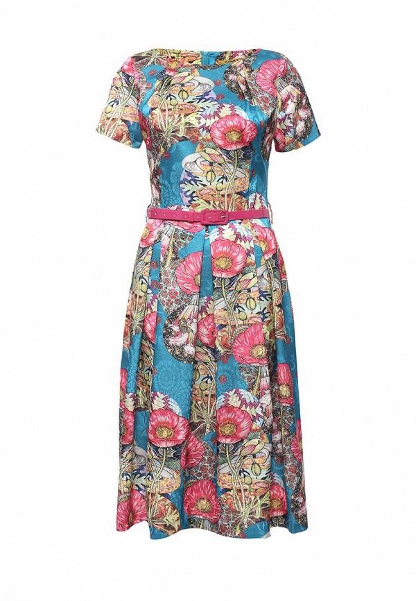 женское платье миди мадам т, разноцветное