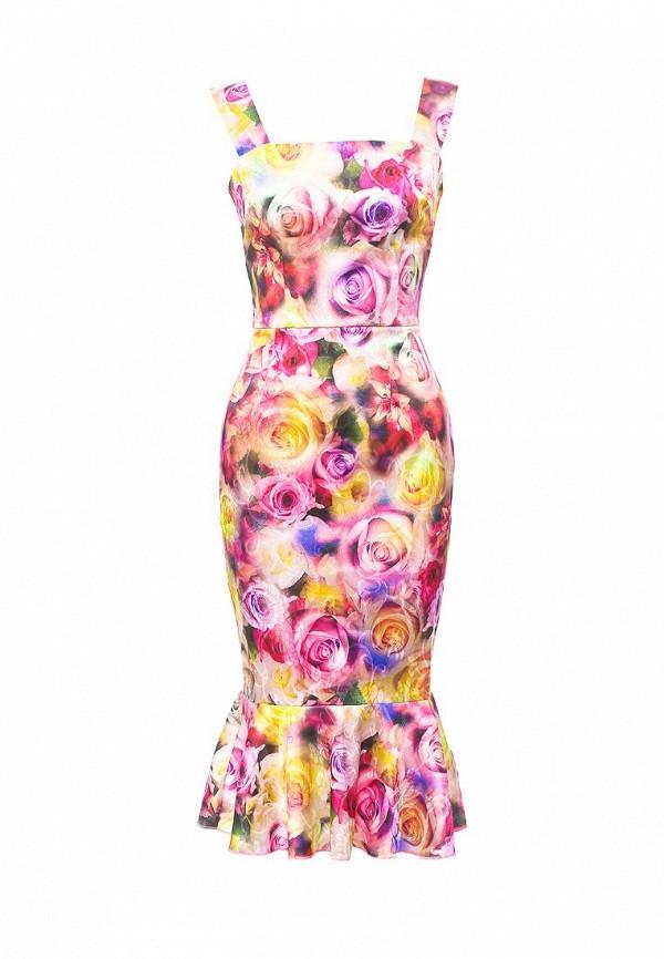 женское вечерние платье мадам т, розовое