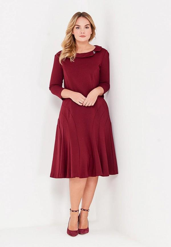 Фото 2 - женское платье MadaM T бордового цвета