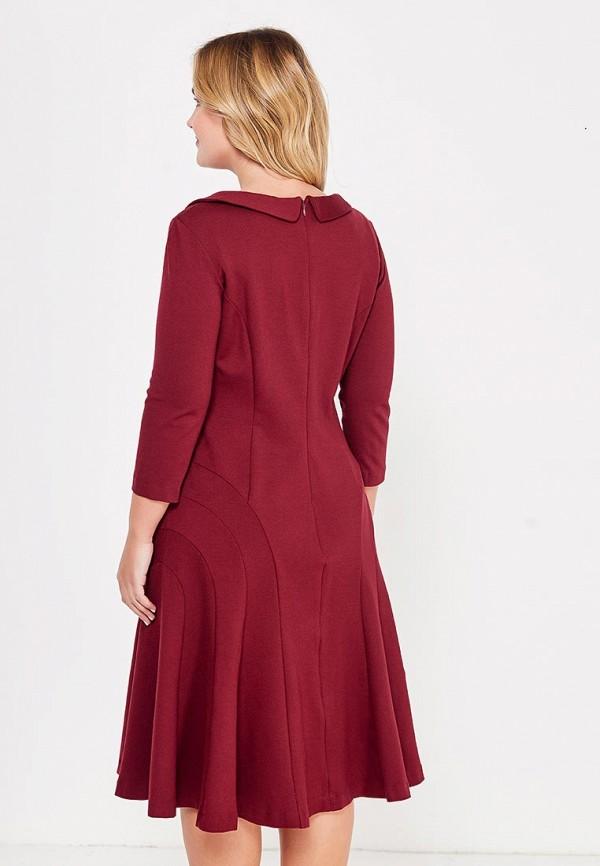 Фото 3 - женское платье MadaM T бордового цвета