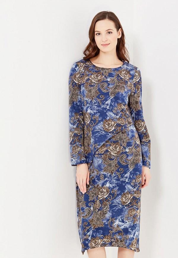 женское повседневные платье мадам т, голубое