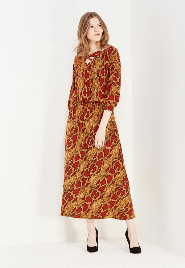 женское повседневные платье мадам т, коричневое