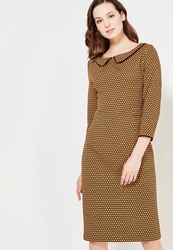 женское повседневные платье мадам т, желтое