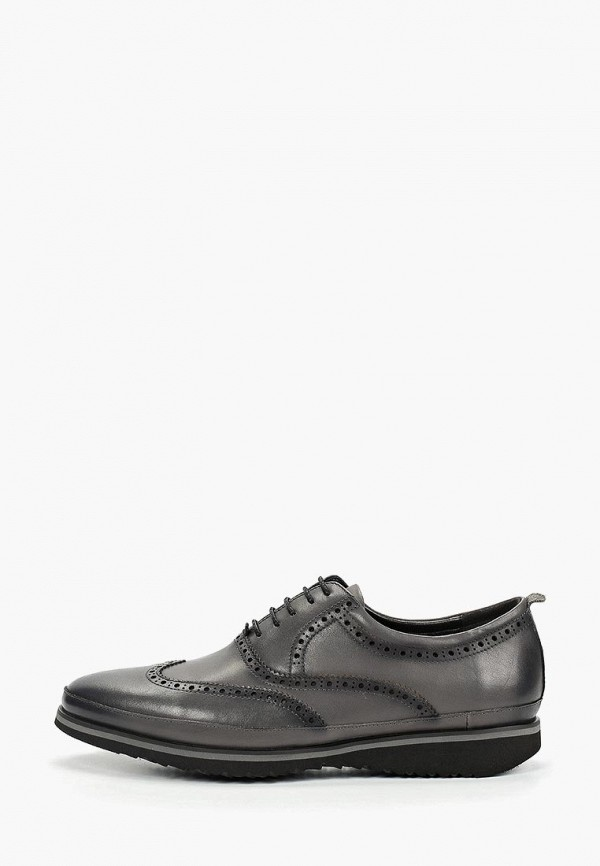 Мужские серые кожаные туфли Mascotte