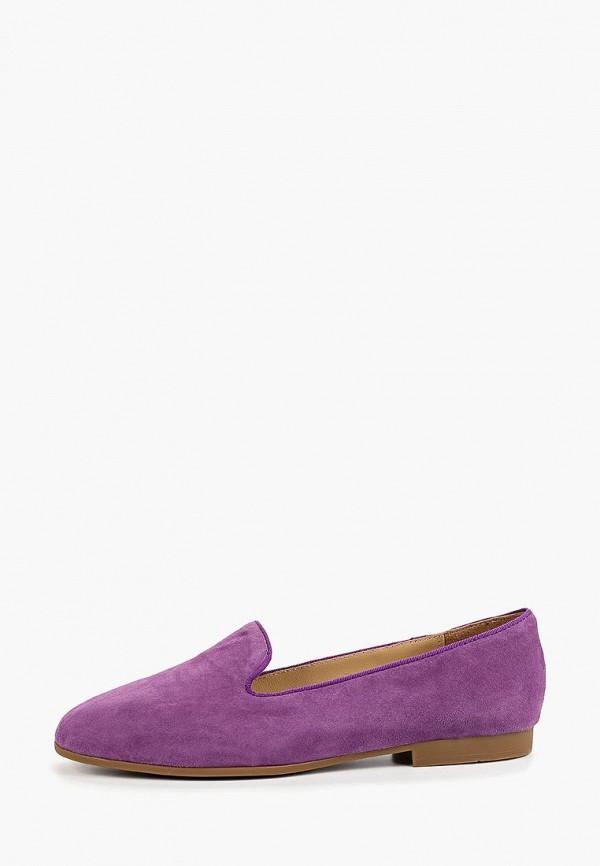 женские лоферы mascotte, фиолетовые
