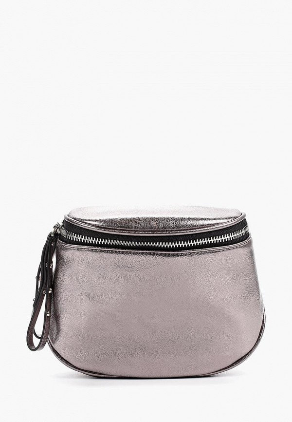 женская сумка mascotte, серебряная