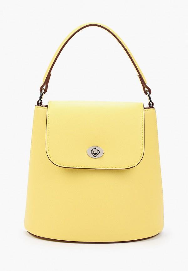 женская сумка с ручками mascotte, желтая