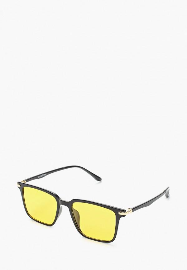 мужские квадратные солнцезащитные очки mascotte, черные