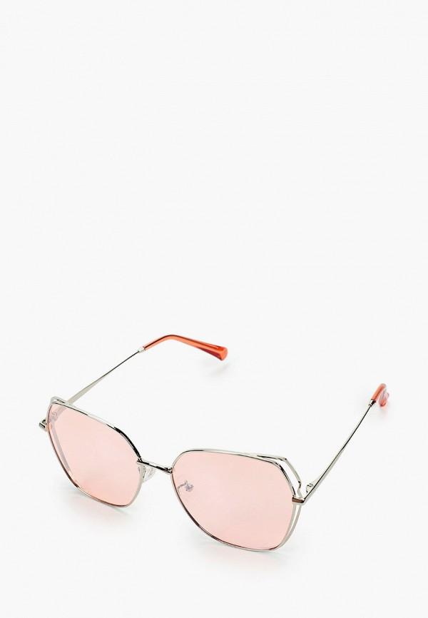 женские квадратные солнцезащитные очки mascotte, серебряные
