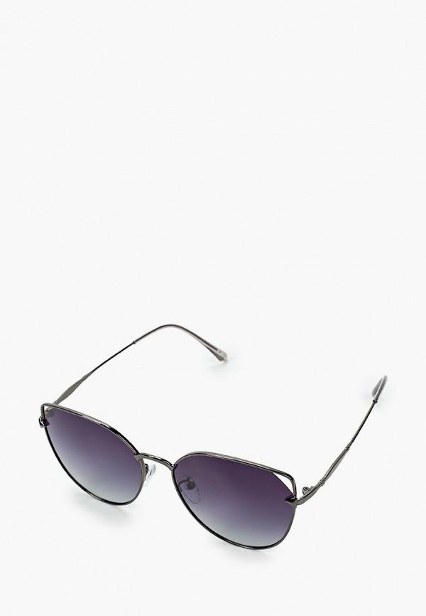 женские солнцезащитные очки кошачьи глаза mascotte, синие