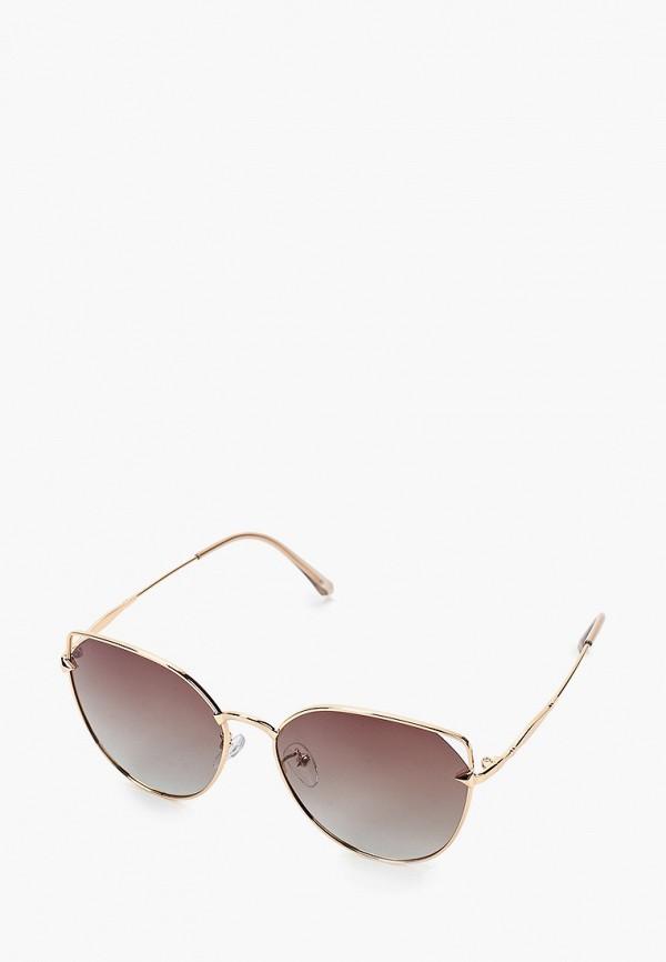 женские солнцезащитные очки кошачьи глаза mascotte, золотые