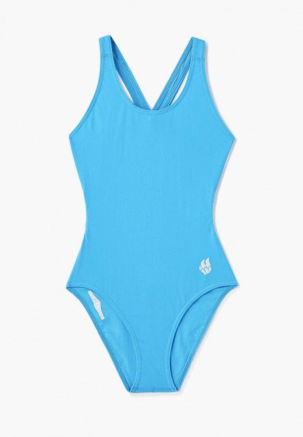 купальник madwave для девочки, голубой