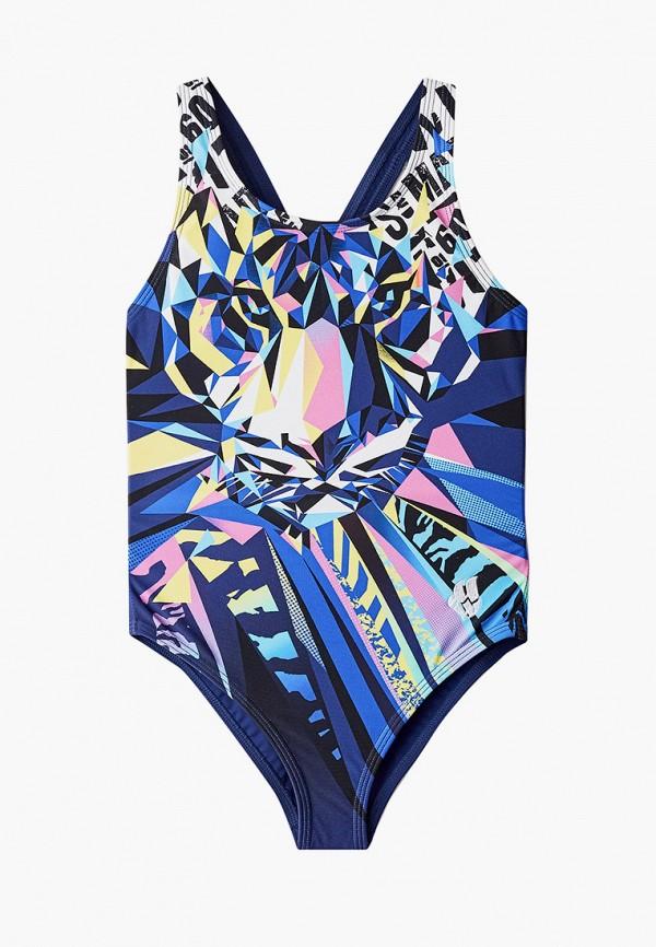 купальник madwave для девочки, разноцветный