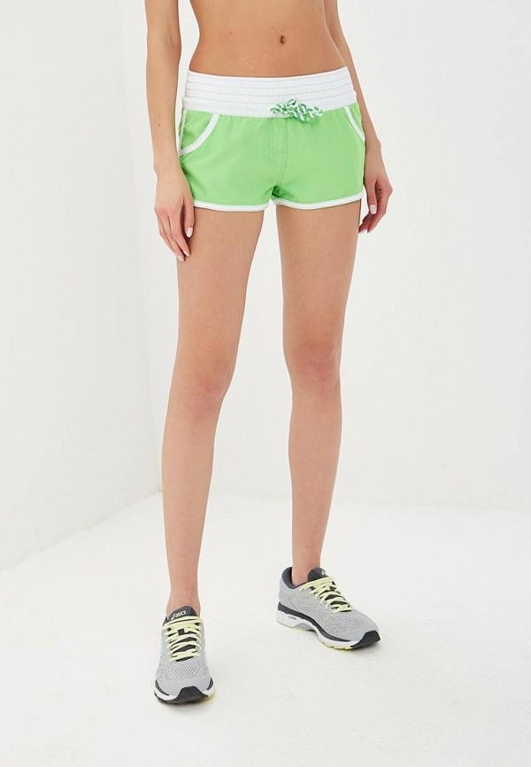 женские спортивные шорты madwave, зеленые