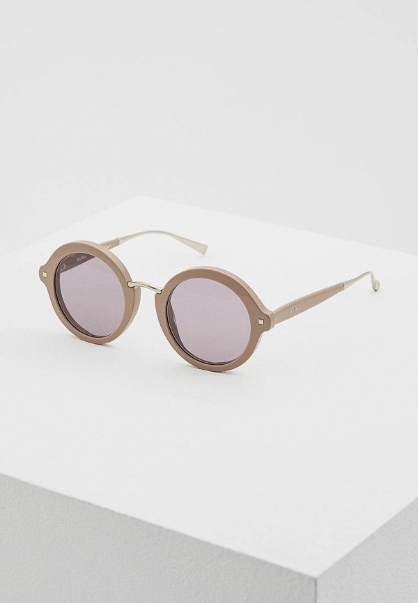 женские солнцезащитные очки max mara, коричневые