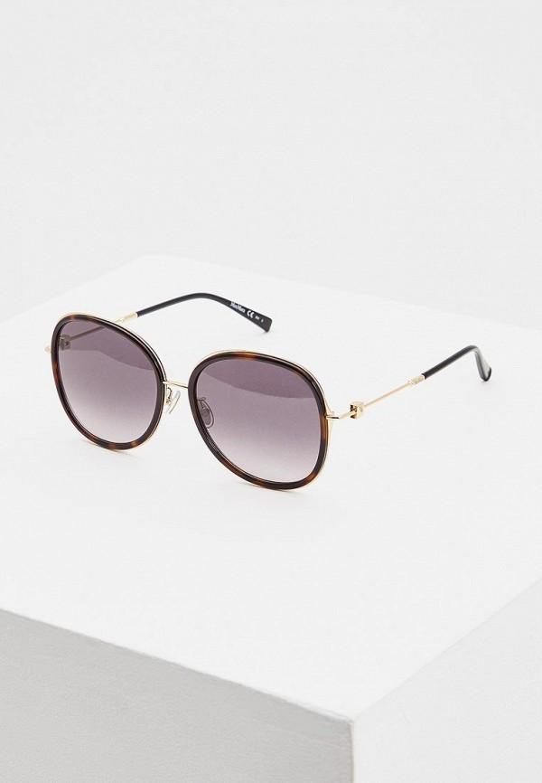 женские солнцезащитные очки max mara, золотые