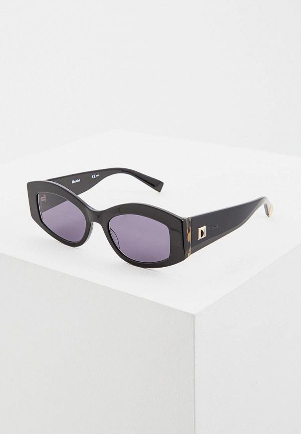 женские солнцезащитные очки max mara, черные