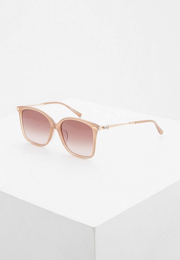 женские солнцезащитные очки max mara, бежевые
