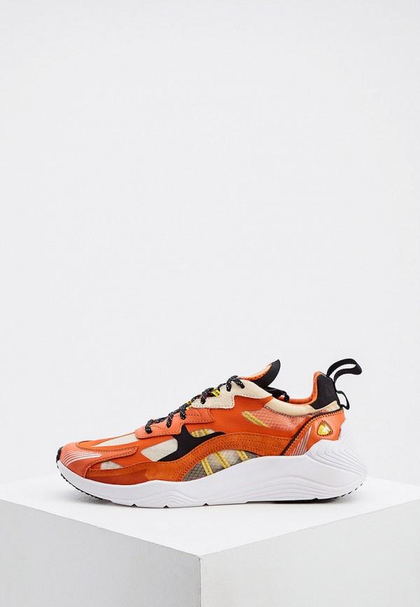 мужские кроссовки mcq alexander mcqueen, оранжевые