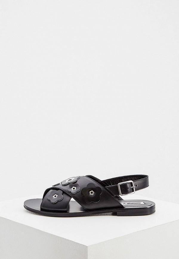 женские сандалии mcq alexander mcqueen, черные