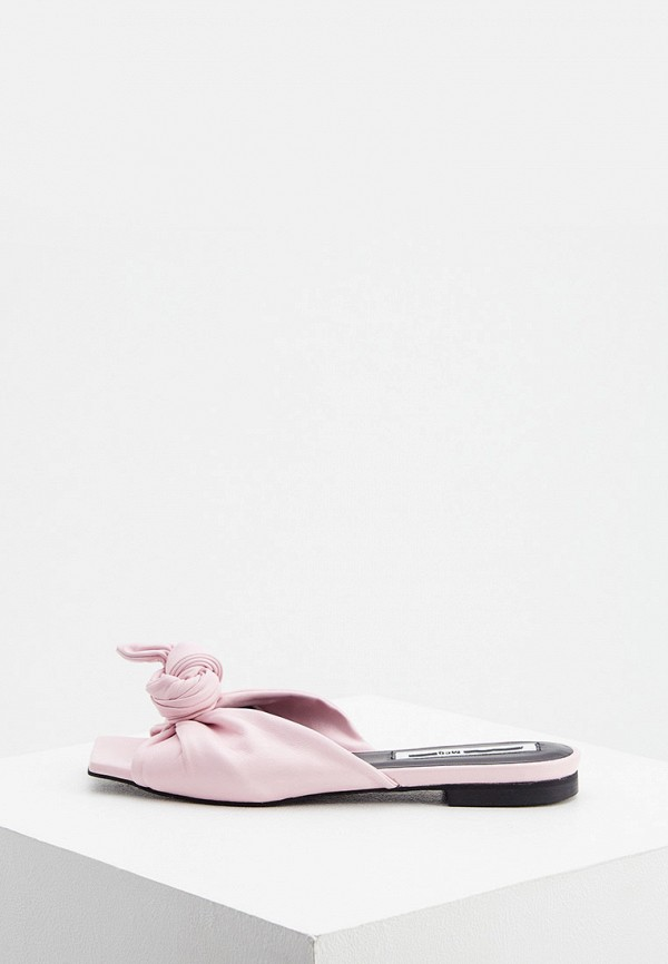 женское сабо mcq alexander mcqueen, розовое