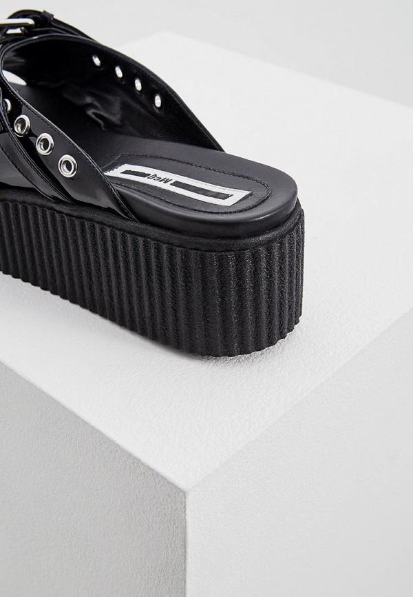 Фото 3 - женские сабо McQ Alexander McQueen черного цвета