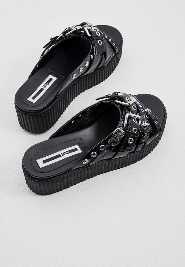 Фото 4 - женские сабо McQ Alexander McQueen черного цвета