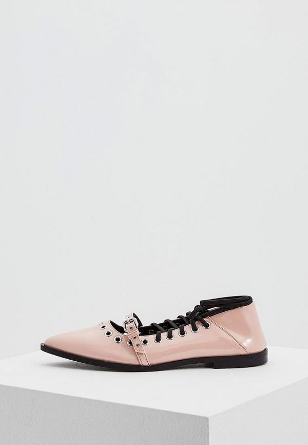женские туфли mcq alexander mcqueen, розовые