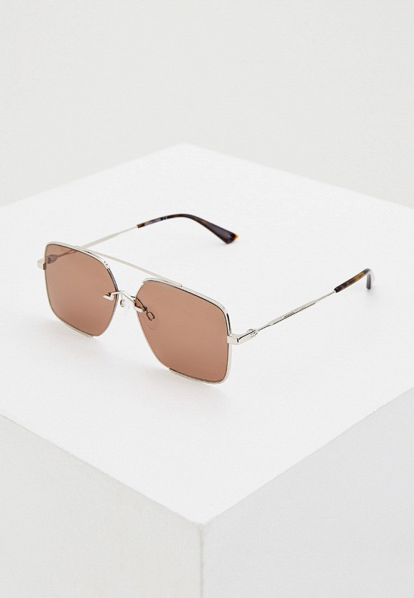 мужские солнцезащитные очки mcq alexander mcqueen, серебряные