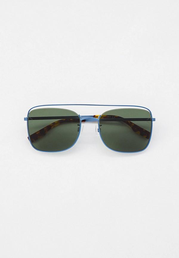 женские квадратные солнцезащитные очки mcq alexander mcqueen, синие