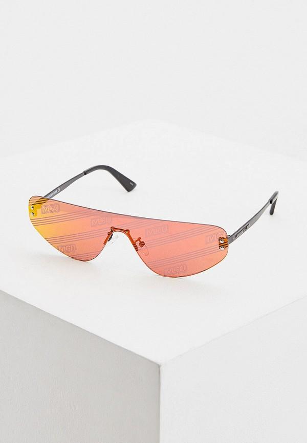 женские солнцезащитные очки mcq alexander mcqueen, красные