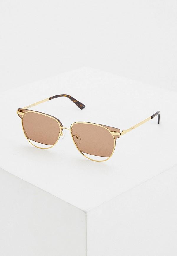 женские солнцезащитные очки mcq alexander mcqueen, золотые
