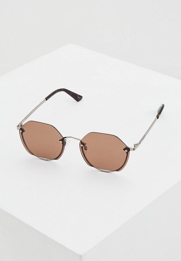 женские солнцезащитные очки mcq alexander mcqueen, черные