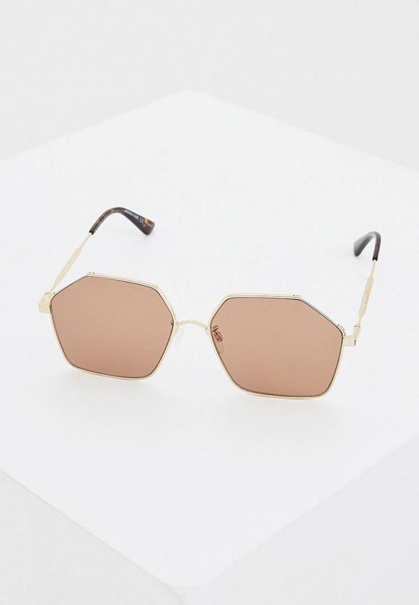 женские солнцезащитные очки mcq alexander mcqueen, коричневые