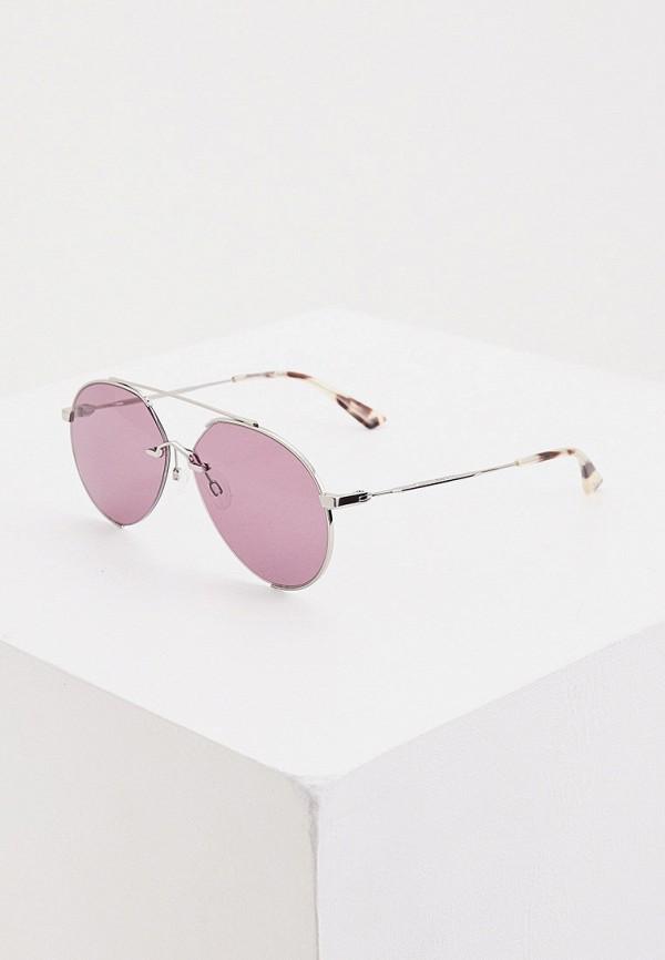 женские солнцезащитные очки mcq alexander mcqueen, фиолетовые