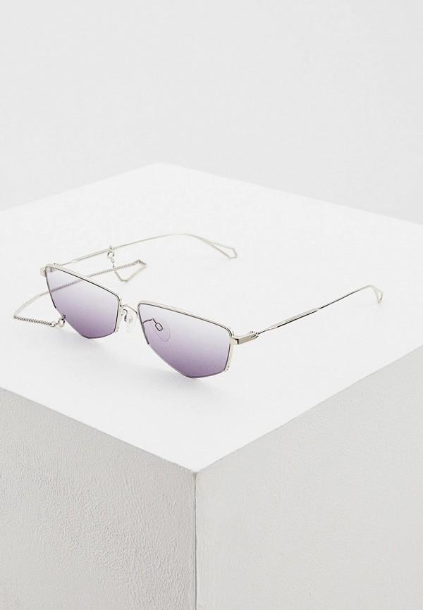 женские солнцезащитные очки mcq alexander mcqueen, серебряные