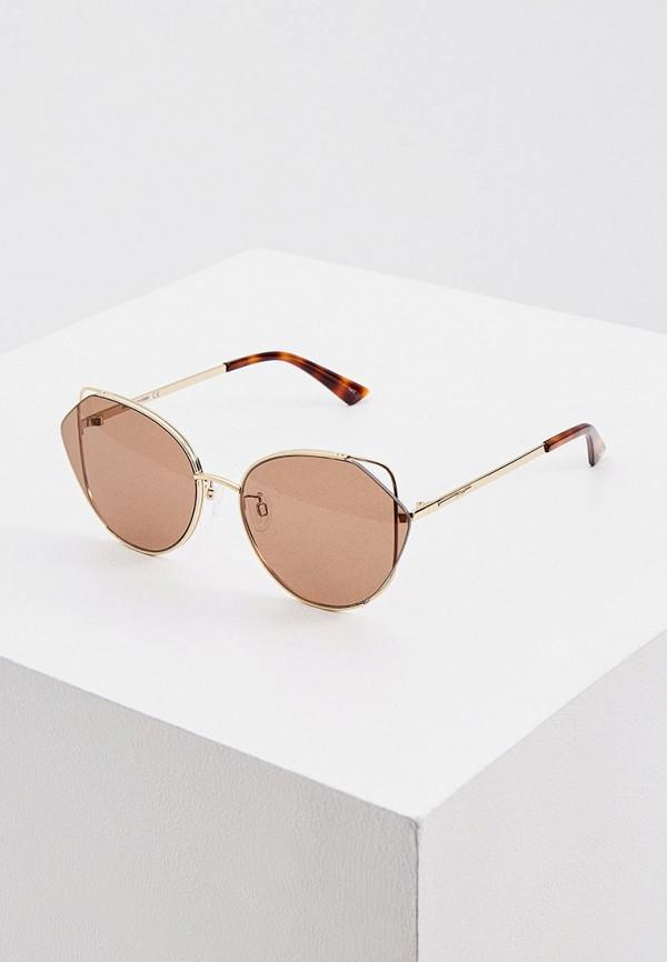женские солнцезащитные очки кошачьи глаза mcq alexander mcqueen, разноцветные