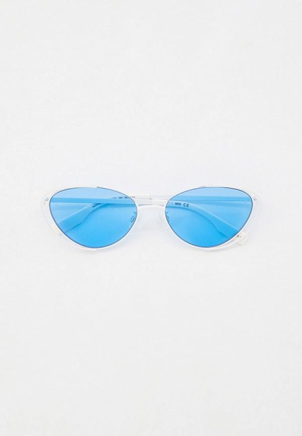 женские солнцезащитные очки кошачьи глаза mcq alexander mcqueen, белые