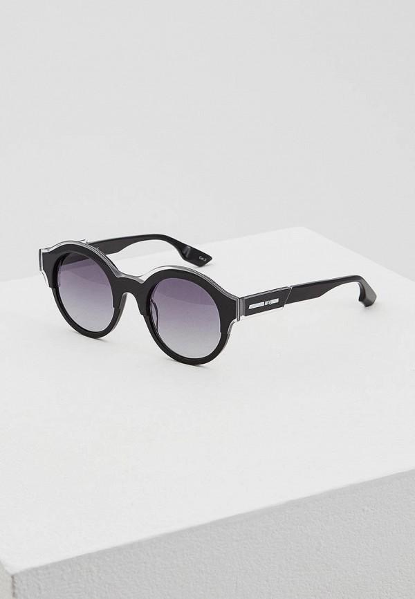 женские солнцезащитные очки mcq, черные