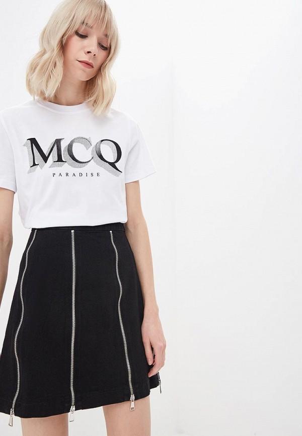 Футболка McQ Alexander McQueen McQ Alexander McQueen MC010EWCWEW1 платье mcq alexander mcqueen mcq alexander mcqueen mc010ewcwdg8