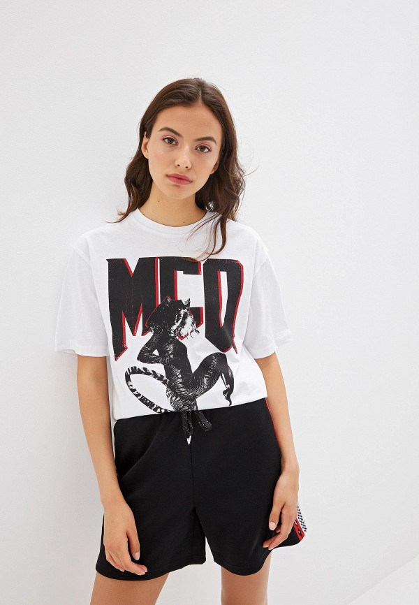 женская футболка mcq alexander mcqueen, белая
