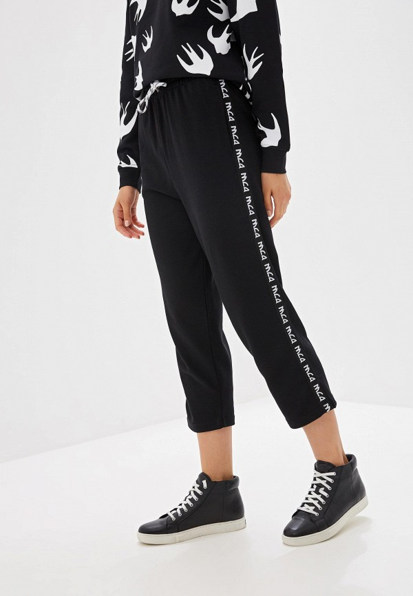 женские спортивные спортивные брюки mcq alexander mcqueen, черные