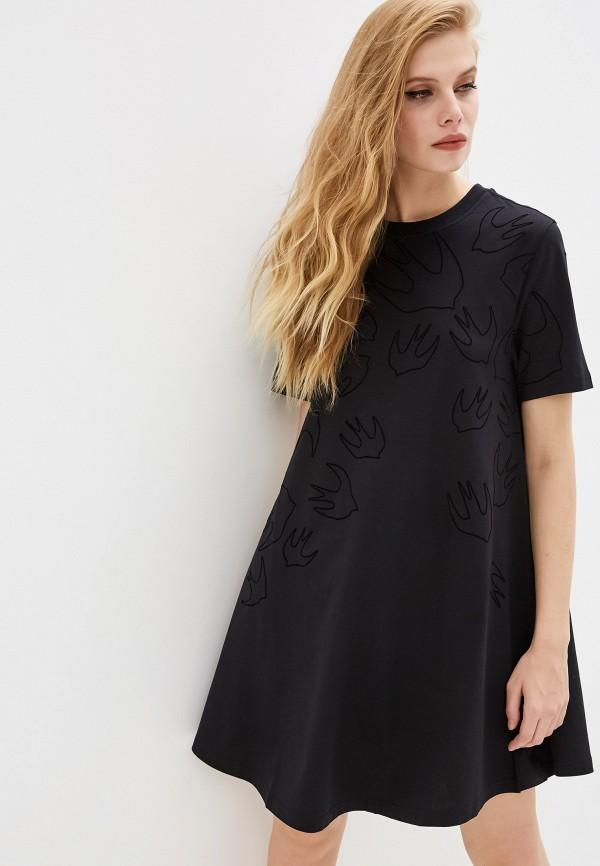 женское платье mcq alexander mcqueen, черное