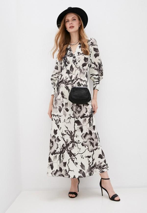 женское повседневные платье mcq alexander mcqueen, бежевое