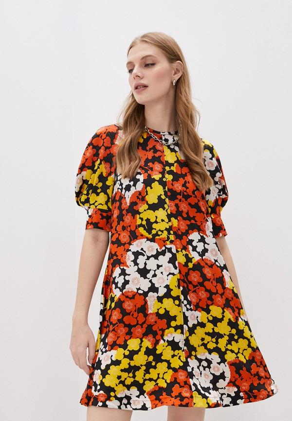 женское повседневные платье mcq alexander mcqueen, разноцветное