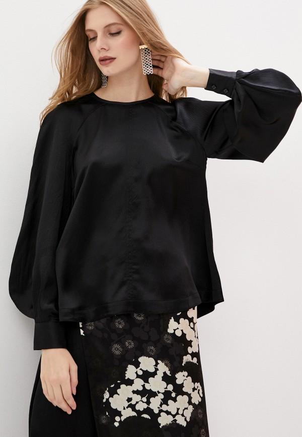 женская блузка mcq alexander mcqueen, черная