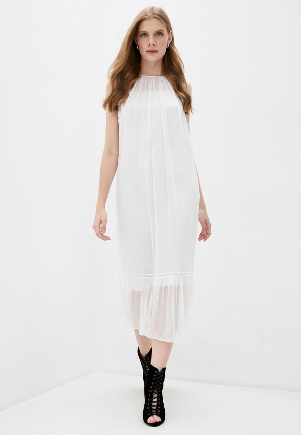 женское повседневные платье mcq alexander mcqueen, белое
